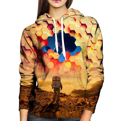 Image of Astronaut Barrier Womens Hoodie