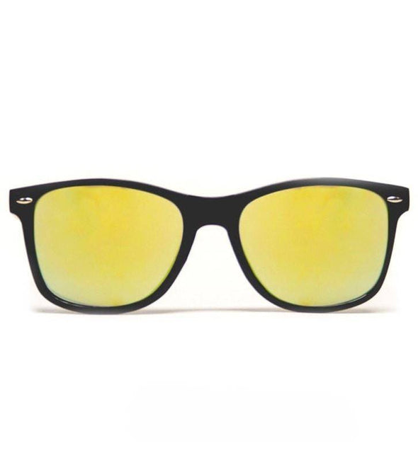 GloFX Diffraction Glasses – Black – Gold Mirror