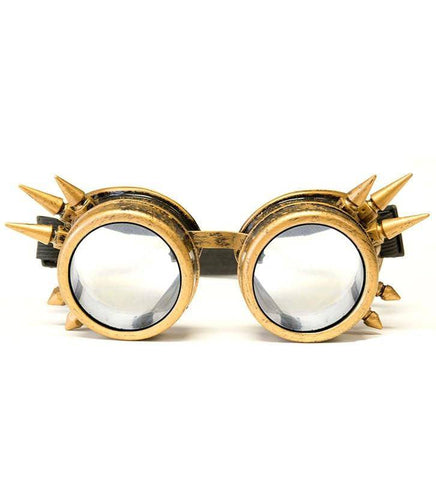 Image of GloFX Brass Spike Diffraction Goggles