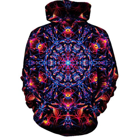 Image of Abstract Design Red Womens Hoodie