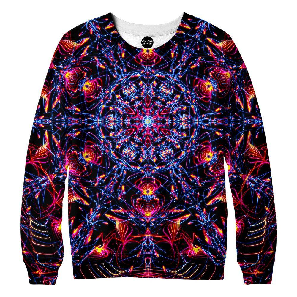 Abstract Design Red Womens Sweatshirt