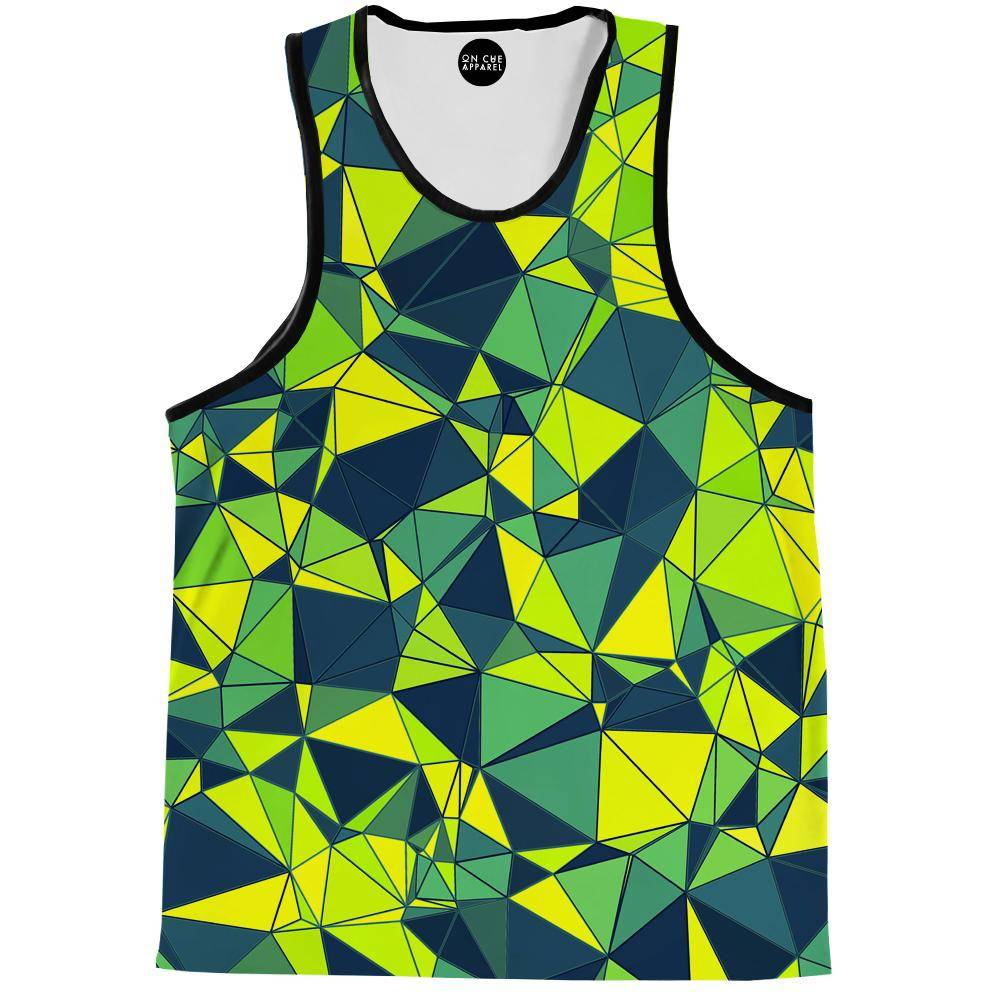 Triangles In Green Shades Tank Top