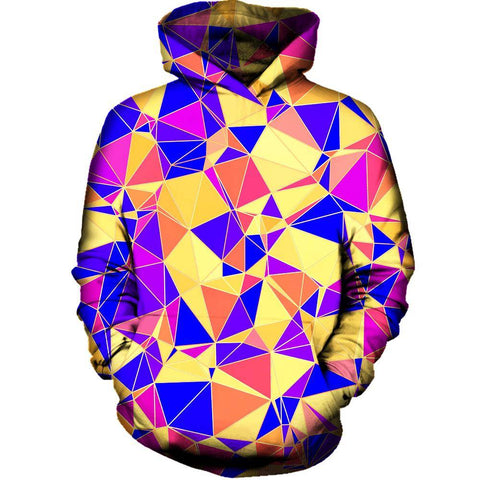 Image of Funky Triangles Womens Hoodie