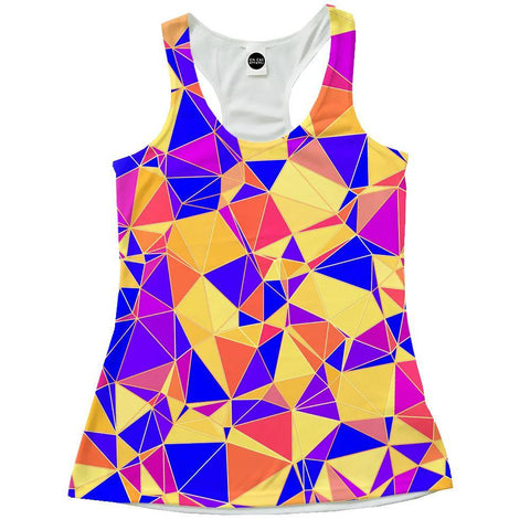 Image of Funky Triangles Racerback