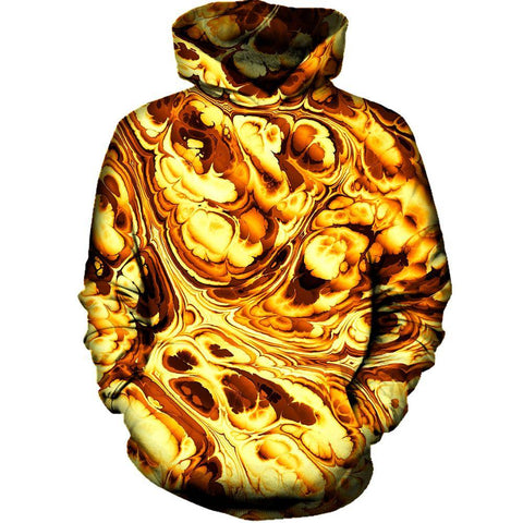 Image of Gold Abstract Painting Hoodie