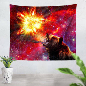 California Grizzly Bear Tapestry
