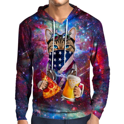 Image of USA Rave Cat Hoodie