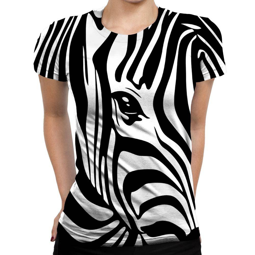 a8ed59ca1 Zebra Womens T-Shirt. Double tap to zoom