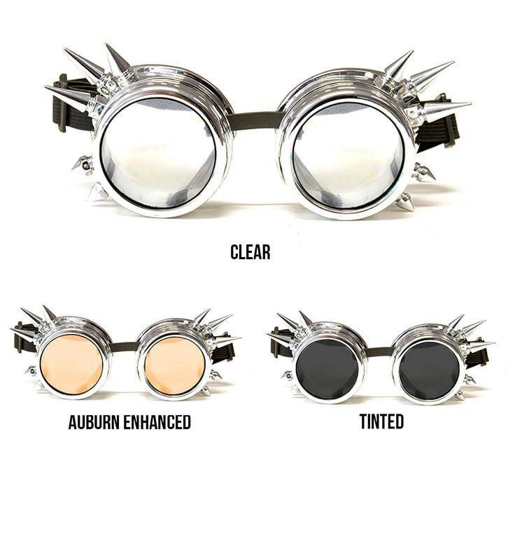 GloFX Chrome Spike Diffraction Goggles