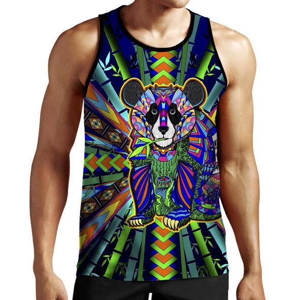 Colorful Panda Tank Top