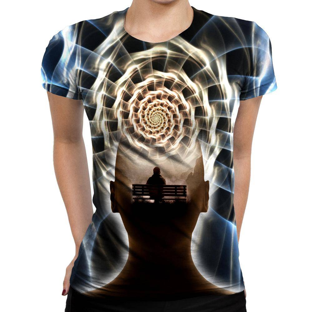 Contemplating Infinity Womens T-Shirt
