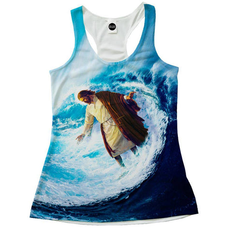 Image of Jesus Surfs Racerback