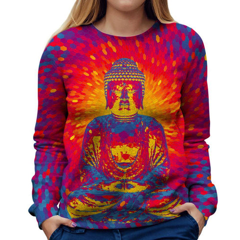 Image of Buddha Womens Sweatshirt