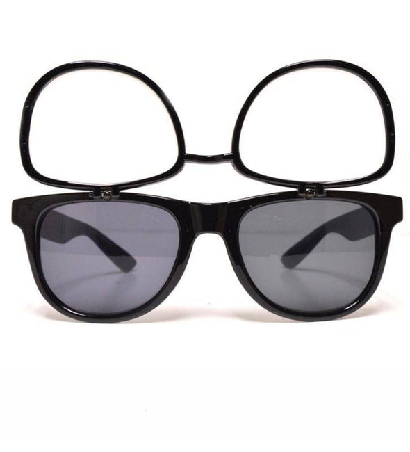 GloFX Flip Sunglasses + Diffraction – Black