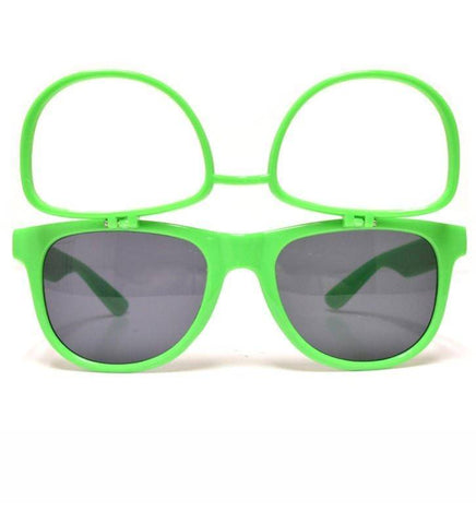 GloFX Flip Sunglasses + Diffraction – Green