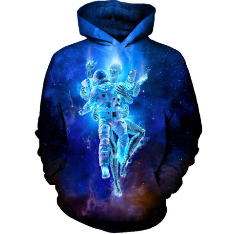 Deep Space Embrace Womens Hoodie