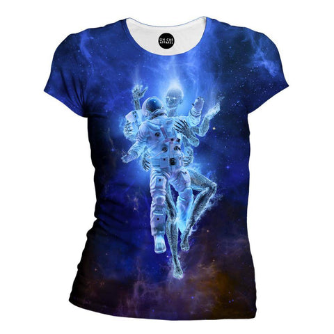 Deep Space Embrace Womens T-Shirt