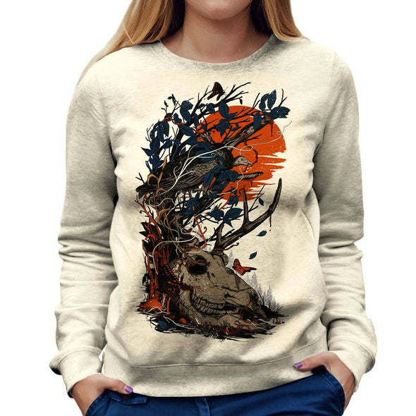 Skull Womens Sweatshirt