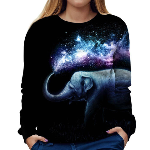 Elephant Womens Sweatshirt