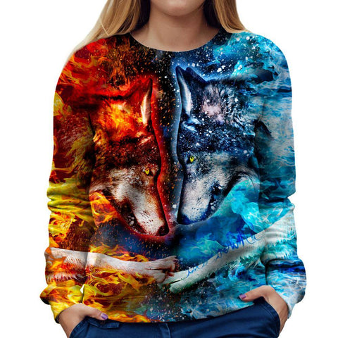 Image of Fire and Ice Women Sweatshirt