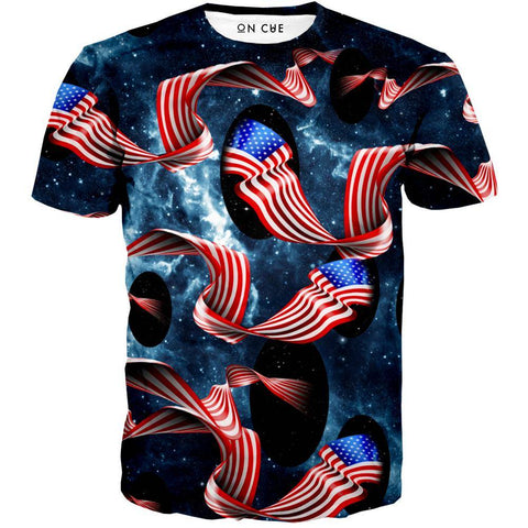 Image of Galactic Flag T-Shirt