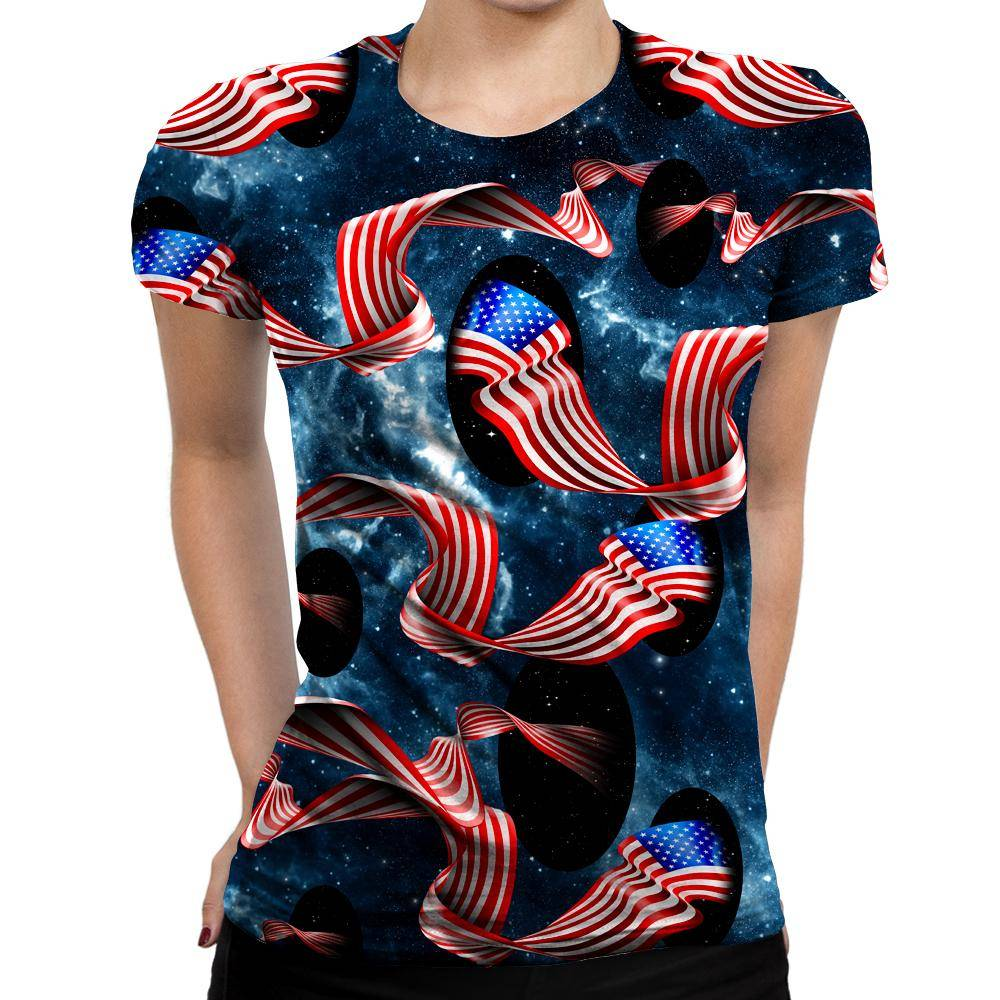 Galactic Flag Womens T-Shirt