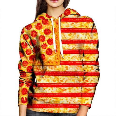 Image of  Pizza Womens Hoodie