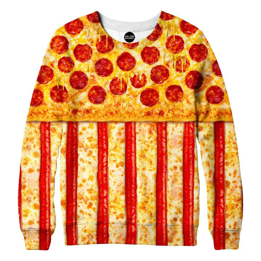 United States Pizza Womens Sweatshirt