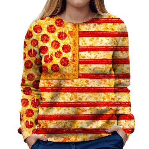Image of Pizza Womens Sweatshirt