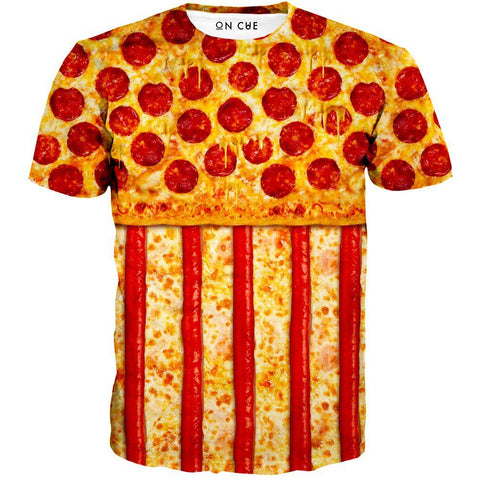 Image of United States Pizza T-Shirt