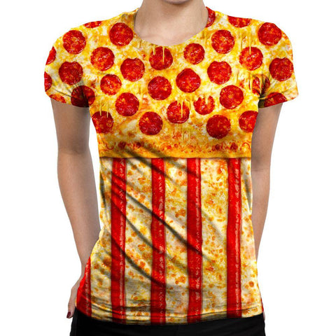 Pizza Womens T-Shirt
