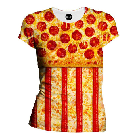 United States Pizza Womens T-Shirt