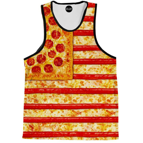 Image of United States Flag Pizza Tank Top