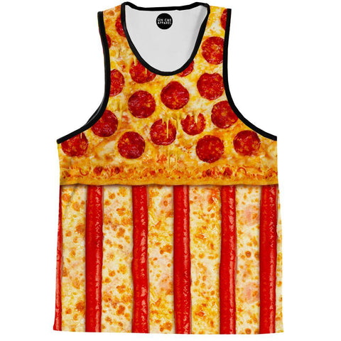 United States Pizza Tank Top
