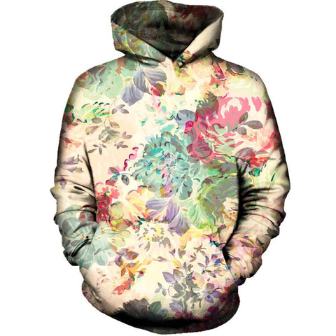Flower Abstraction Womens Hoodie