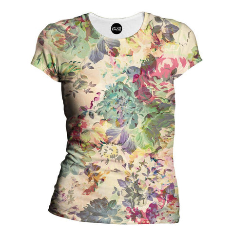 Flower Abstraction Womens T-Shirt