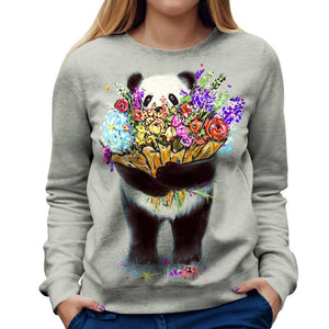 Panda Womens Sweatshirt