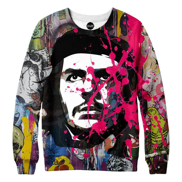 Che Guevara Fragments Womens Sweatshirt