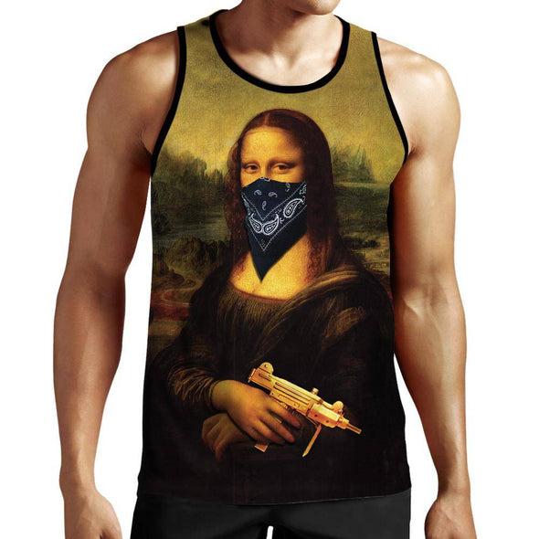 Gangster Mona Lisa Tank Top