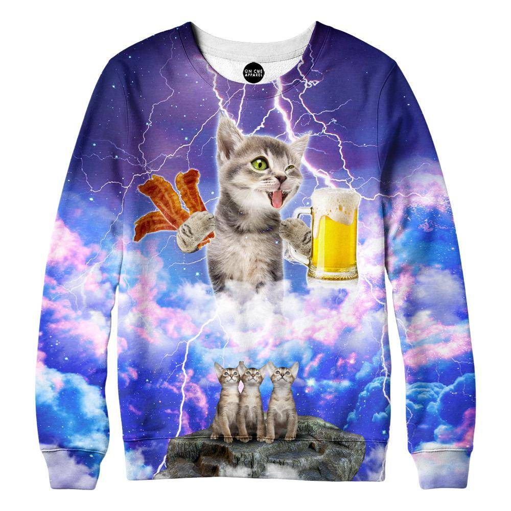 Kitties Love Beer And Bacon Sweatshirt