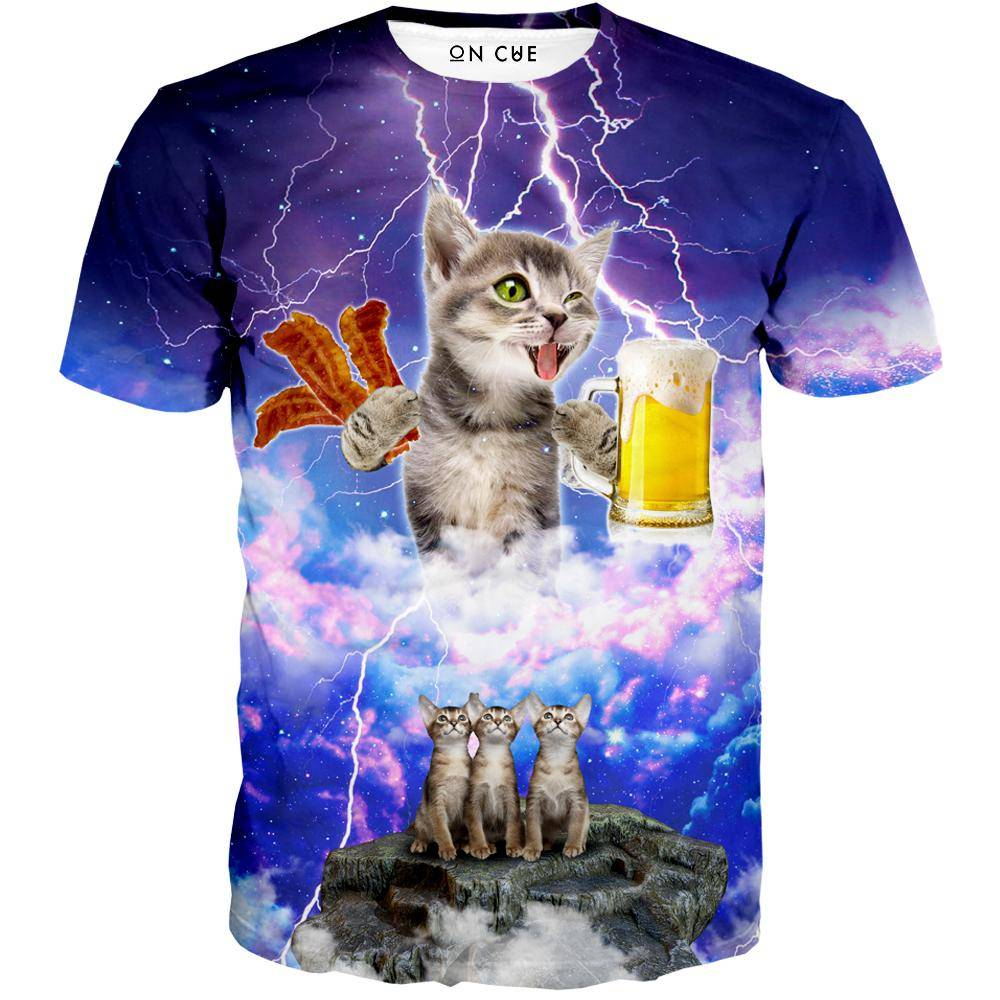 Kitties Love Beer And Bacon T-Shirt