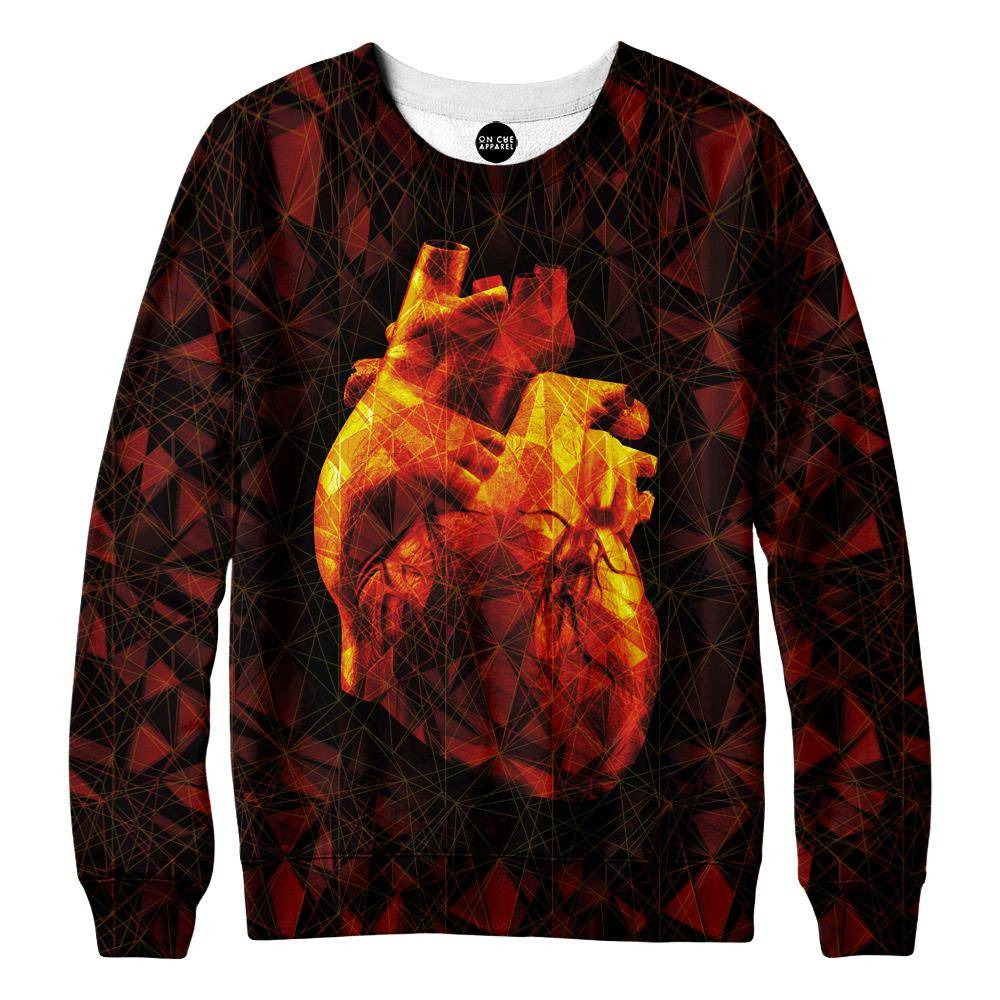 Geometric Heart Sweatshirt