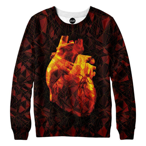 Image of Geometric Heart Sweatshirt