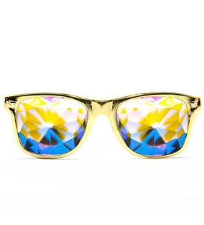 GloFX Ultimate Kaleidoscope Glasses – Metallic Gold Limited Edition