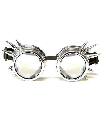 Image of GloFX Chrome Spike Diffraction Goggles