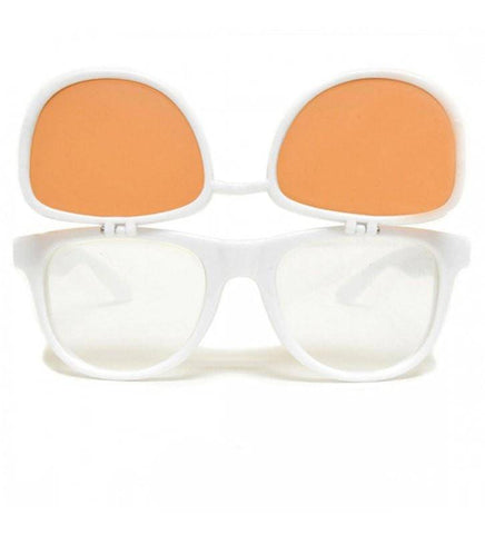 GloFX Matrix Diffraction Glasses – White Auburn Enhanced