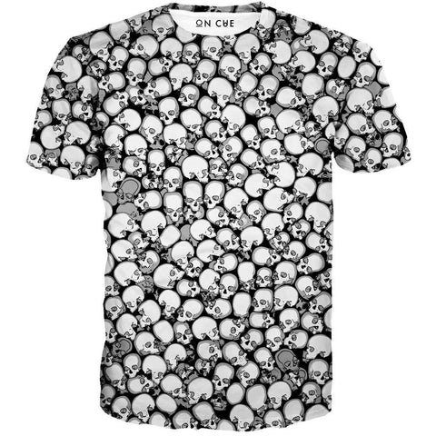 Image of Skull Pattern T-Shirt