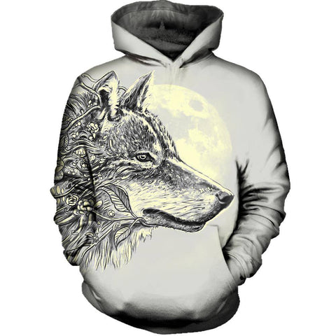 Image of Gray Wolf Hoodie