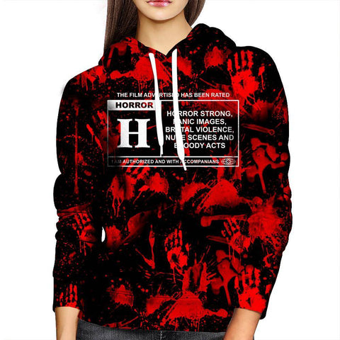 Horror Film Classification Womens Hoodie