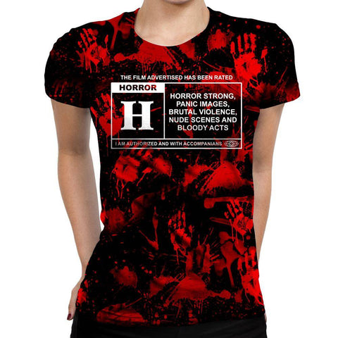 Horror Film Classification Womens T-Shirt